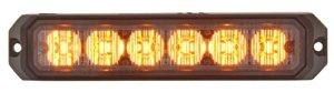 Blixtljus 6 LED Orange 12/24V